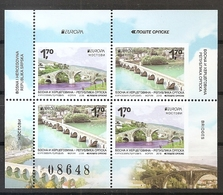 BOSNIA AND HERZEGOVINA 2018, Serbia  Bosnia,Bridges,Europa Cept,booklet,,MNH - Bosnien-Herzegowina