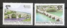 BOSNIA AND HERZEGOVINA 2018, Serbia  Bosnia,Bridges,Europa Cept,sheet,,MNH - Bosnia And Herzegovina