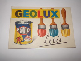 Buvard Peinture Et Pinceaux Geolux Levis. - Peintures