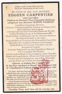 DP Burgemeester Ingenieur Brouwer Eugeen Carpentier / Mulckens ° Izegem 1870 † Brussel 1942 X J. Hamman / Roeselare - Devotieprenten