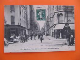 CPA -  PARIS - RUE DE LA FOLIE MERICOURT A LA RUE OBERKAMPF - Arrondissement: 11