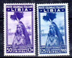 11.5.1936;  Poste Colonial LIBIA - 10e Foire Tripoli, YT 64 + 65, Neuf **; Lot 50336 - Libye