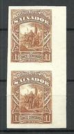 EL SALVADOR 1892 Michel 54 ESSAY Plate PROOF As Vertical Pair (*) - El Salvador