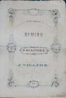 """"""" CAHIER D'ECRITURE"""" -Ecole Normale- Dessins- (45cm X 30cm)- - Documents Historiques"""