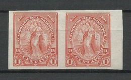 EL SALVADOR 1896 ESSAY Plate PROOF Michel 129 As Pair (*) - El Salvador