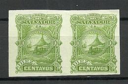 EL SALVADOR 1891 ESSAY Plate Color PROOF 10 C. Michel 40 As Pair (*) - El Salvador