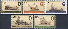 MVS-BK1-087 MINT ¤ FALKLAND ISL. 1982 5w In Serie ¤  MARITIEM - VOILIERS - ZEILSCHEPEN - SHIPS OVER THE WORLD - Maritiem