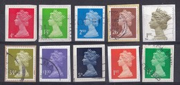 """Engeland - 10.000 Zegels Type """"Machin"""" - O - Onafgeweekt/op Fragment - Kilowaar (min. 1000 Zegels)"""