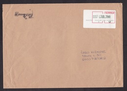 Slovenia: Cover, 1996, ATM Machine Label, Value 44.00, Ljubljana (creases, Tape At Back) - Slovenië