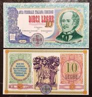 Banca Federale Italiana Ubbiesse 10  LEGHE Carlo Cattaneo  Lotto 2277 - [ 1] …-1946 : Kingdom