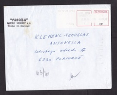 Slovenia: Registered Cover, 1996, ATM Machine Label, Value 99.00, Koper Capodistria (minor Damage) - Slovenië