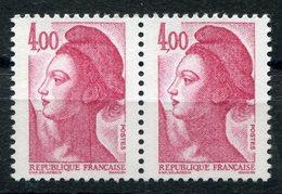 RC 10355 FRANCE N° 2244 LIBERTÉ 4f VARIÉTÉ TRAIT ROUGE DANS LE COU TENAT A NORMAL NEUF ** TB - 1982-90 Liberté De Gandon