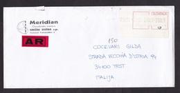 Slovenia: Registered Cover To Italy, 1999, ATM Machine Label, Value 590.00, Izola-Isola, Label AR (minor Damage) - Slovenia