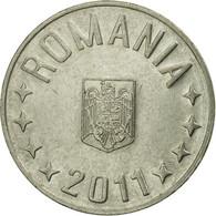 Monnaie, Roumanie, 10 Bani, 2011, Bucharest, TTB, Nickel Plated Steel, KM:191 - Roumanie
