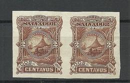 EL SALVADOR 1891 Michel 37 ESSAY Plate Color PROOF As Pair (*) - El Salvador