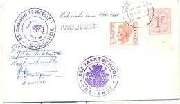 Paquebot Zeevaartschool Oostende Commandant Fourcault Met Zegels Nr.1027B En 1582 Gestempeld Te Vlissingen - Marcophilie
