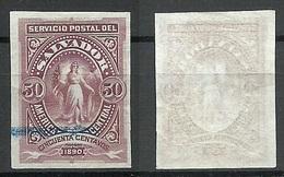 EL SALVADOR 1890 ESSAY Plate PROOF 50 C. Michel 34 - El Salvador