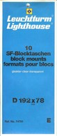 Leuchtturm - Blocs 192x78 Fond Transparent (Réf. 74791) - Taschine
