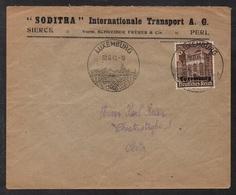 LUXEMBOURG - OCCUPATION / 1941 ENVELOPPE A ENTÊTE & OB. ILLUSTREE  (ref LE2606) - 1940-1944 German Occupation