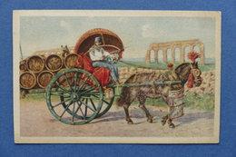 Cartolina Costumi - Roma - Costumi Romani Carro Da Vino - 1910 Ca. - Cartoline