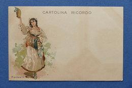 Cartolina Costumi - Popolana Di Napoli - 1900 Ca. - Cartoline