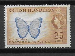 BRITISH HONDURAS - PAPILLON - YVERT N° 154 * MH - COTE = 8.5 EUR. - British Honduras (...-1970)