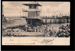 CHILE Arica El Muelle 1906 OLD POSTCARD 2 Scans - Cile