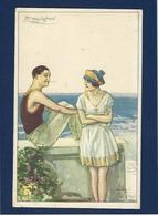 CPA Mauzan Femme Girl Femme Women Glamour Beauté Illustrateur Italien Italie Non Circulé - Mauzan, L.A.