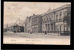 CHILE Santiago Alameda Palacia Vergara 1904 OLD POSTCARD 2 Scans - Cile