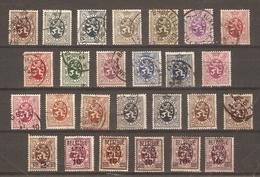 Belgique 1929/37- Lion Héraldique - Petit Lot De 26° - 18 Différents - Avec Surcharges Et Nuances - Timbres