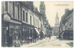 Cpa Hesdin ( Effacé ), La Rue De La Paroisse    ( S. 3257 ) - Hesdin