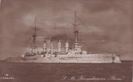 """Alte Ansichtskarte Vom Panzerkreuzer """"Roon"""" - Guerre"""