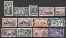 NEW ZEALAND - YVERT N° 243/255 * MH - COTE = 100 EUR. - Unused Stamps