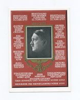 1939 3. Reich Farbige Propagandakarte 50. Geburtstag Adolf Hitler Mit Mi 694 SST Berlin Großdt. Reichstag - Germany