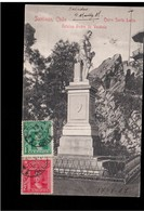 CHILE Santiago Cerro Santa Lucia Estatua Pedro Valdivia 1907 OLD POSTCARD 2 Scans - Cile