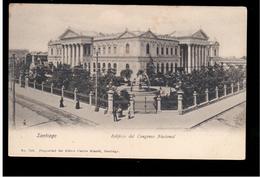 CHILE Santiago Edificio Del Congreso Nacional Ca 1905 OLD POSTCARD 2 Scans - Cile