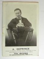 CPA (75) Paris - A. DEPRINCE - Accordéoniste.  Maison Paul Beuscher 27 Bd Beaumarchais - Instruments Musique - District 04