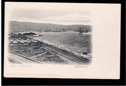 CHILE Valparaiso Bahia Y Macstrazas Ca 1905 OLD POSTCARD 2 Scans - Cile