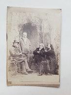 Ancienne Photo De Jacques Offenbach Et 3 Autres Hommes - Vers 1860 - Photos
