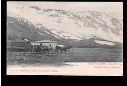 CHILE Viaje Cordillera Nr 22  Posada En Las Cuevas Ca 1905 OLD POSTCARD 2 Scans - Cile