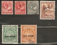 ANTIGUA SMALL ALL DIFFERENT FINE USED GEORGE V LOT - Antigua & Barbuda (...-1981)