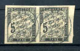 1884 EM. GENERALI TASSE N.5 USATO COPPIA - Postage Due