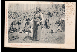 CHILE Mapuches Indias Araucanas 1903 OLD POSTCARD 2 Scans - Cile