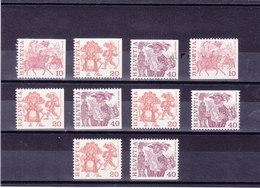 SUISSE 1979 Série Courante Yvert 1034a-1035a + 1034b-1035b + 1037b + 1035b-1035d + 1037c-1037e NEUF**  MNH - Suisse
