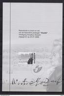 ZNP 38 WOLFGANG AMADEUS MOZART  ZWART WIT VELLETJE 2006 - Foglietti Bianchi & Neri
