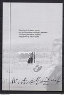 ZNP 38 WOLFGANG AMADEUS MOZART  ZWART WIT VELLETJE 2006 - Zwarte/witte Blaadjes