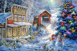 NEW Winter Landscape New Year Christmas Modern Rare New Postcard #117/6 - Andere