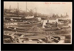 CHILE Bahia De Antofagasta Ca 1920 OLD POSTCARD 2 Scans - Cile