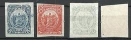 EL SALVADOR 1895 ESSAY Plate PROOF Michel 104 - 105 - El Salvador