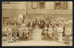 MILITARIA - COBLENZ  1929- Groupe Militaires  Honneur Aux Anciens De La 28 A -Pere 155 -Recto Verso - Régiments